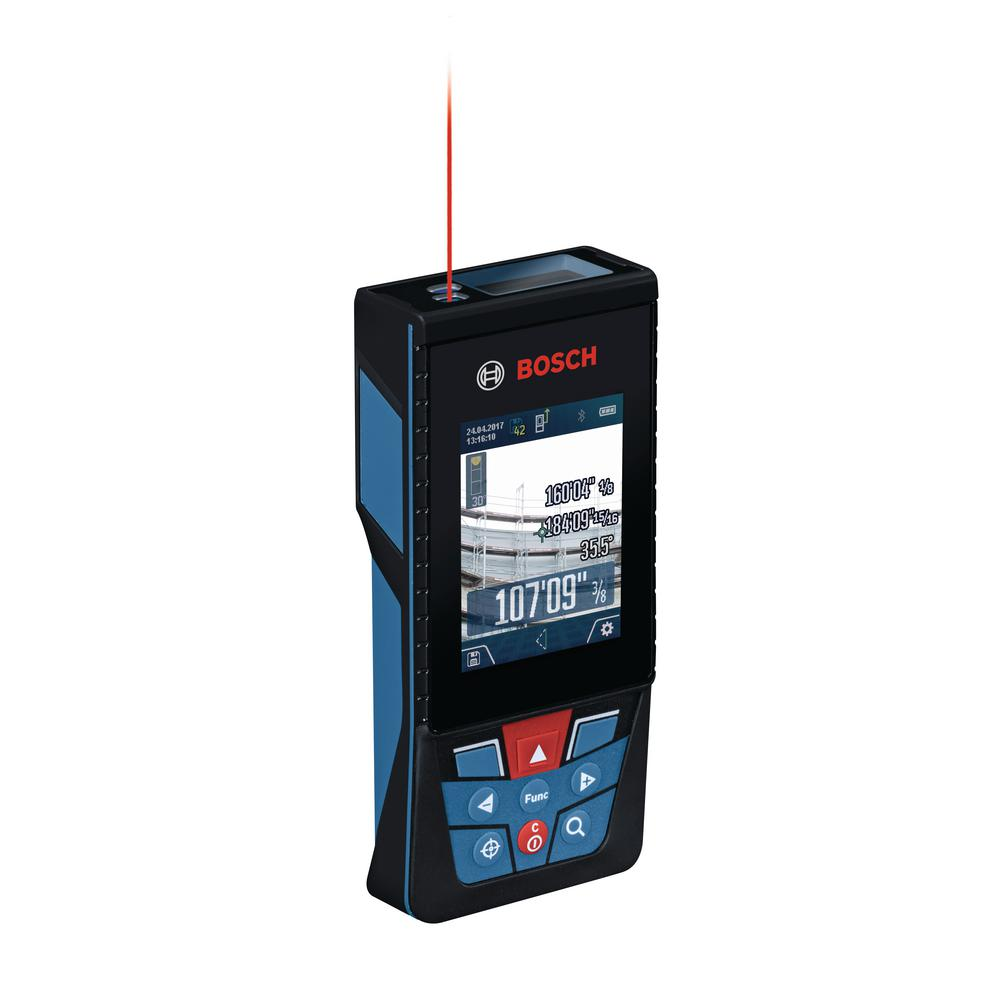 bosch blaze 400 ft. outdoor laser measure with bluetooth and camera