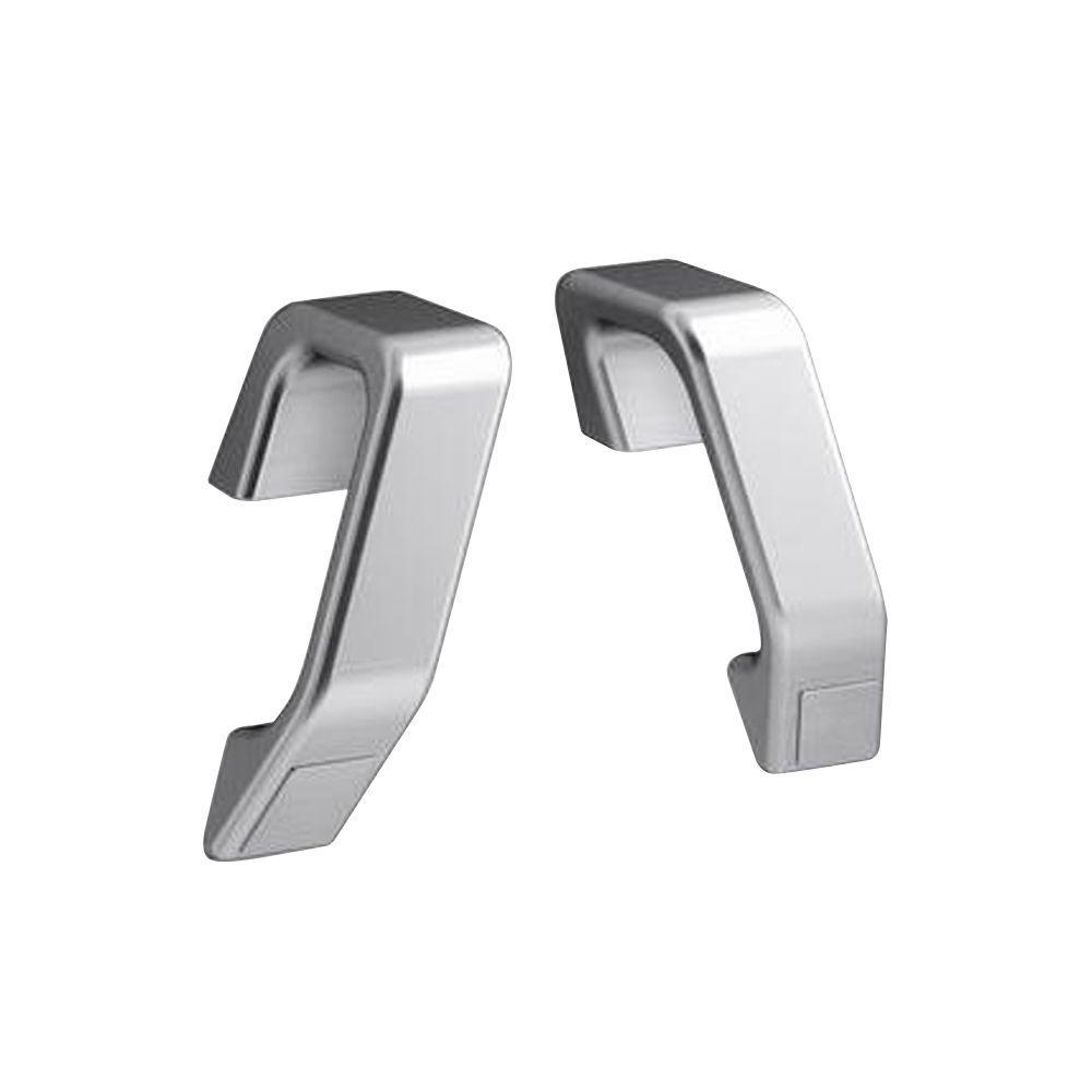 KOHLER Maestro 5-61/64 in. x 3-9/16 in. Concealed Screw Grab Bars in Brushed Chrome