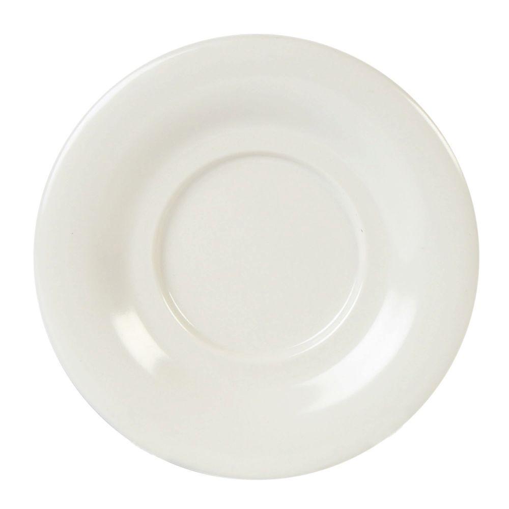 Restaurant Essentials Coleur 5-1/2 in. Saucer for Cr303/Cr9018 in Ivory (12-Piece)