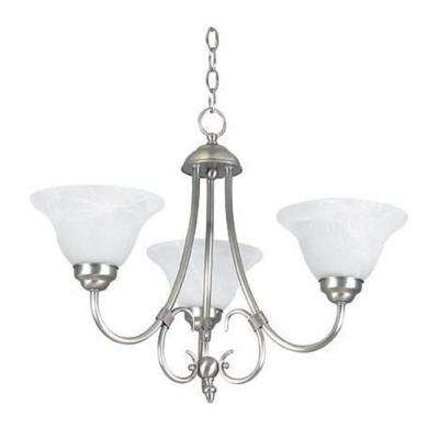 3-Light Satin Nickel Chandelier