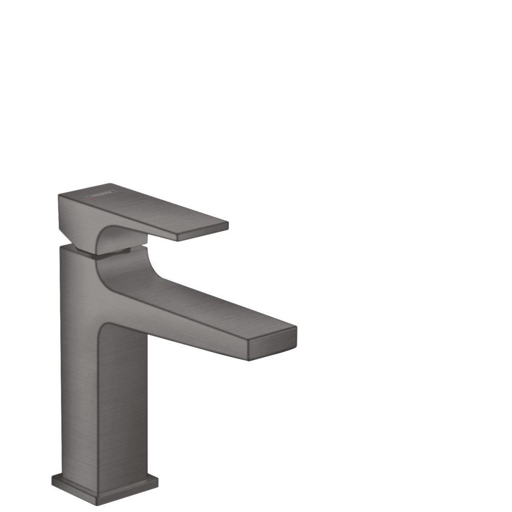 Metropol Single Hole Single-Handle Bathroom Faucet in Brushed Black Chrome