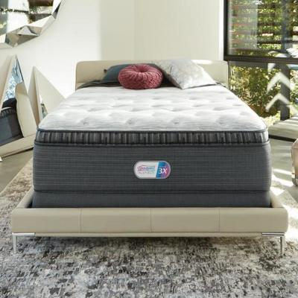 Platinum Haven Pines 17in. Medium Hybrid Pillow Top Queen Mattress