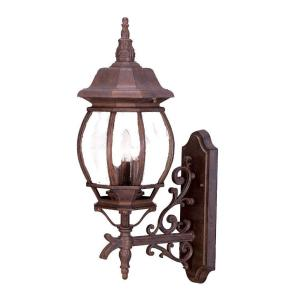 Acclaim Lighting Chateau Collection 3-Light Burled Walnut Outdoor Wall-Mount Light Fixture by