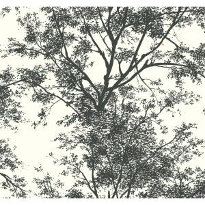 York Wallcoverings, Inc Ashford House Tree Silhouette Sidewall Wallpaper by York Wallcoverings,