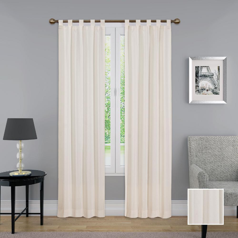 Pairs to Go Montana Window Curtain Panel Pair in Natural - 60 in. W x 63 in. L