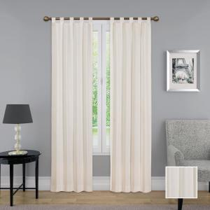 Montana Window Curtain Panel Pair in Natural - 60 in. W x 63 in. L