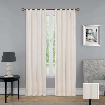 Montana Window Curtain Panel Pair in Natural - 60 in. W x 84 in. L