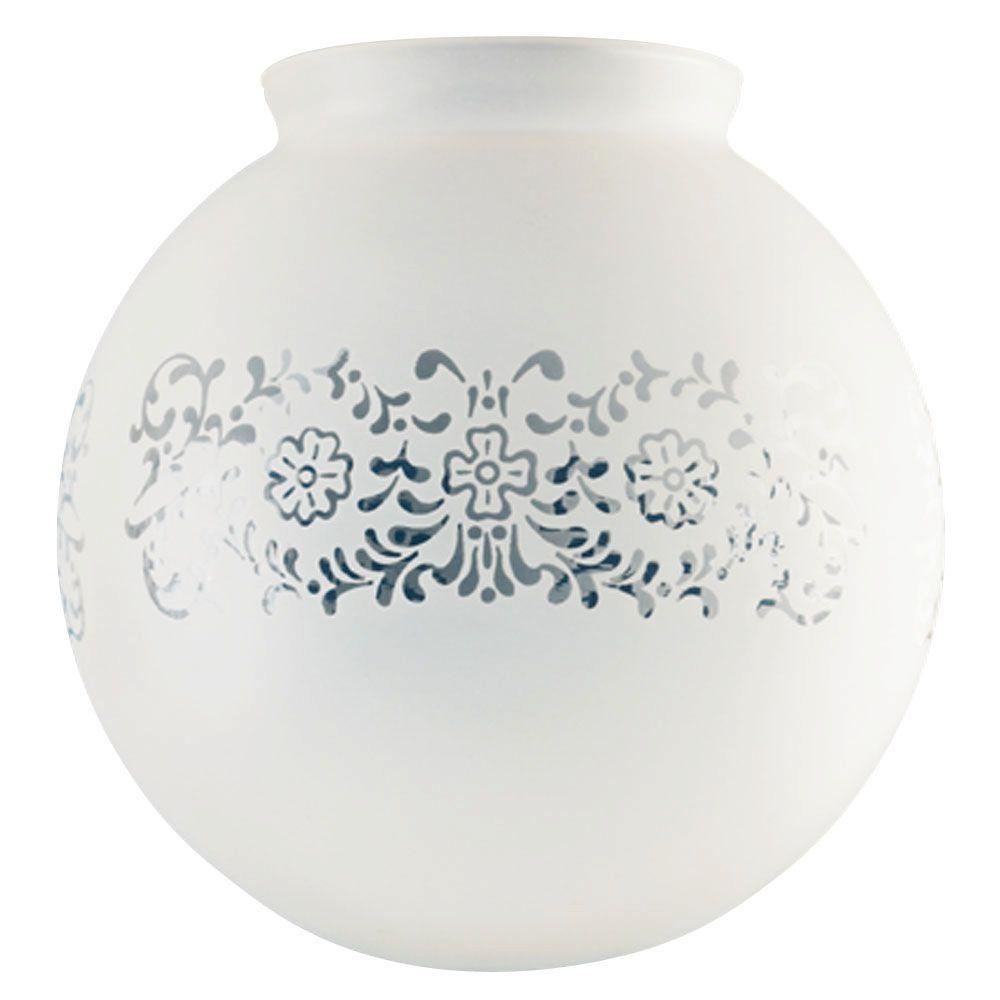 Westinghouse 6 in. Handblown Frosted Victorian Globe with 3-1/4 in. Fitter