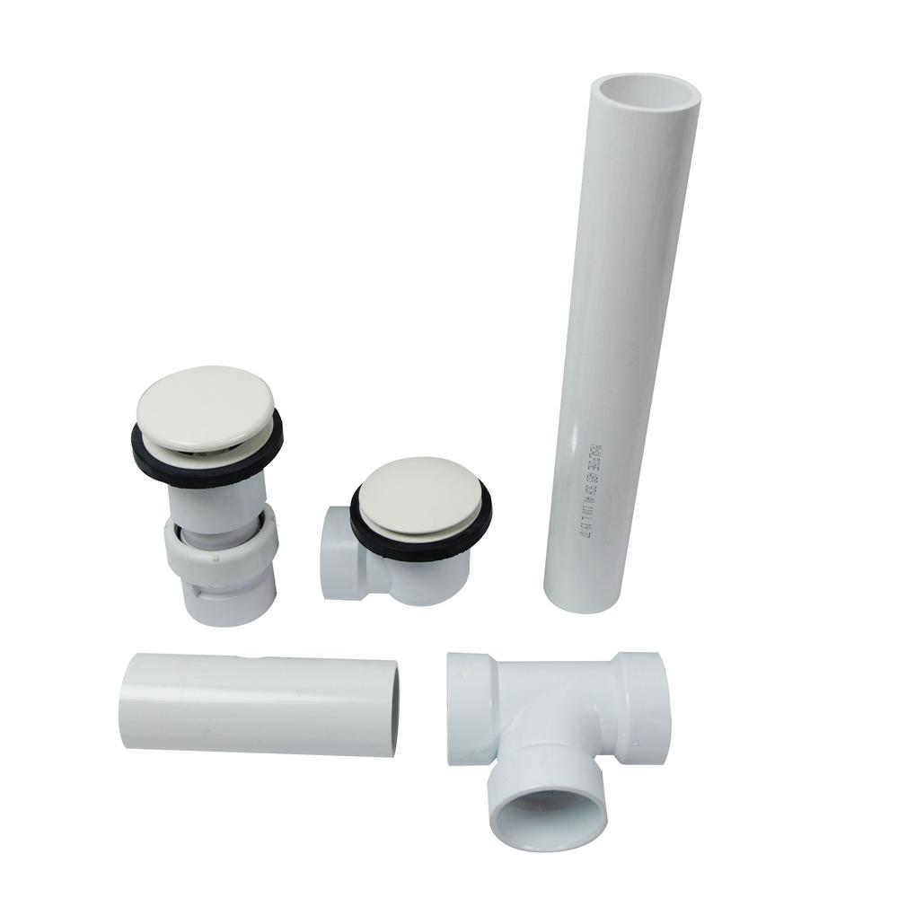 Bravo Series Cable Action Bath Drain and Overflow Kit in White