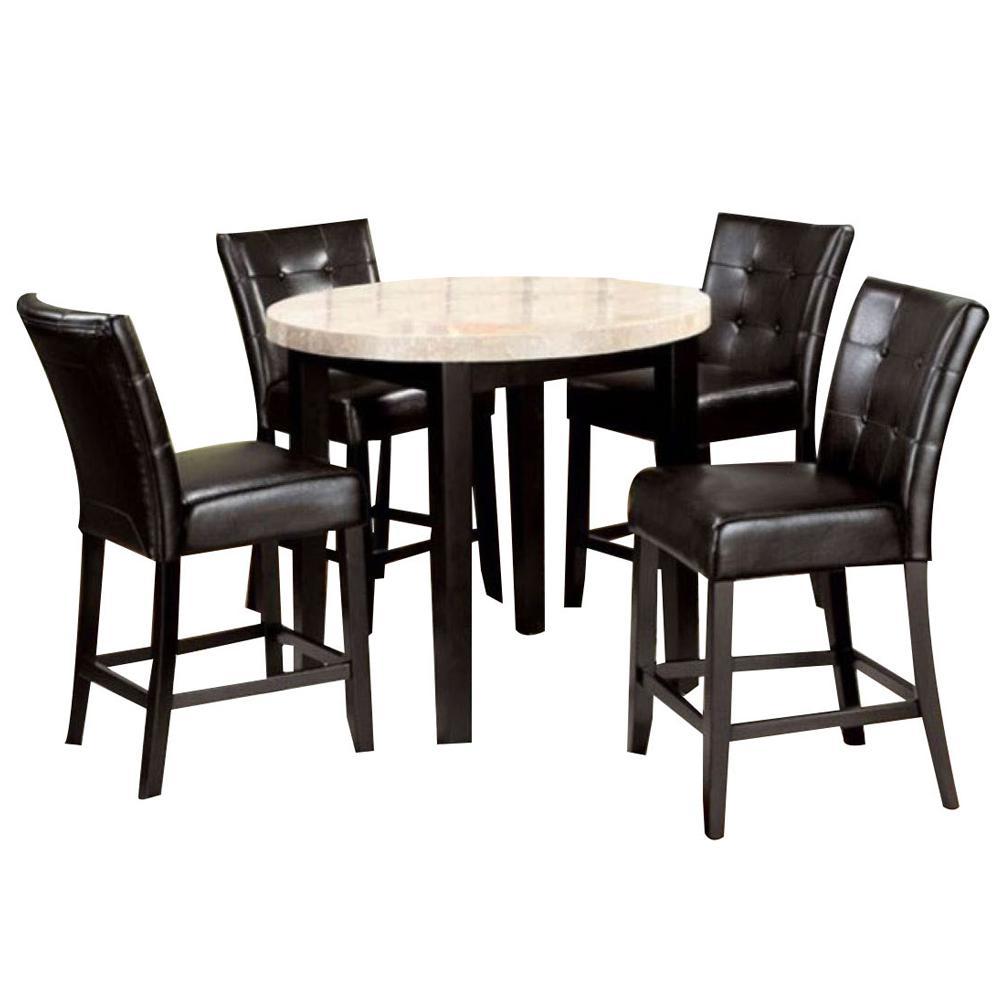 Marion ii Espresso 4-PieceCounter Ht. Table Set