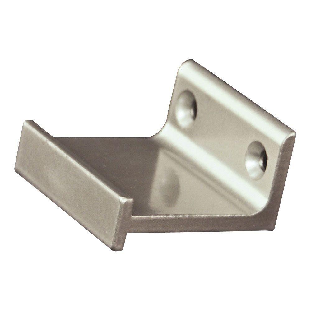 Satin Nickel Horizontal Roller Bracket Kit