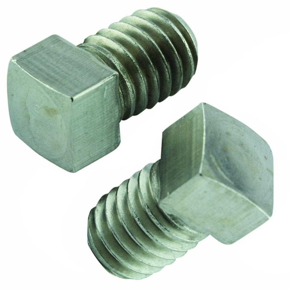 1/4 in.-20 x 1-1/4 in. Stainless Square Head Set Screw (2-Pack)