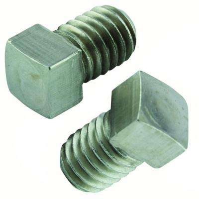 1/4 in.-20 x 3/8 in. Stainless Square Head Set Screw (2-Pack)