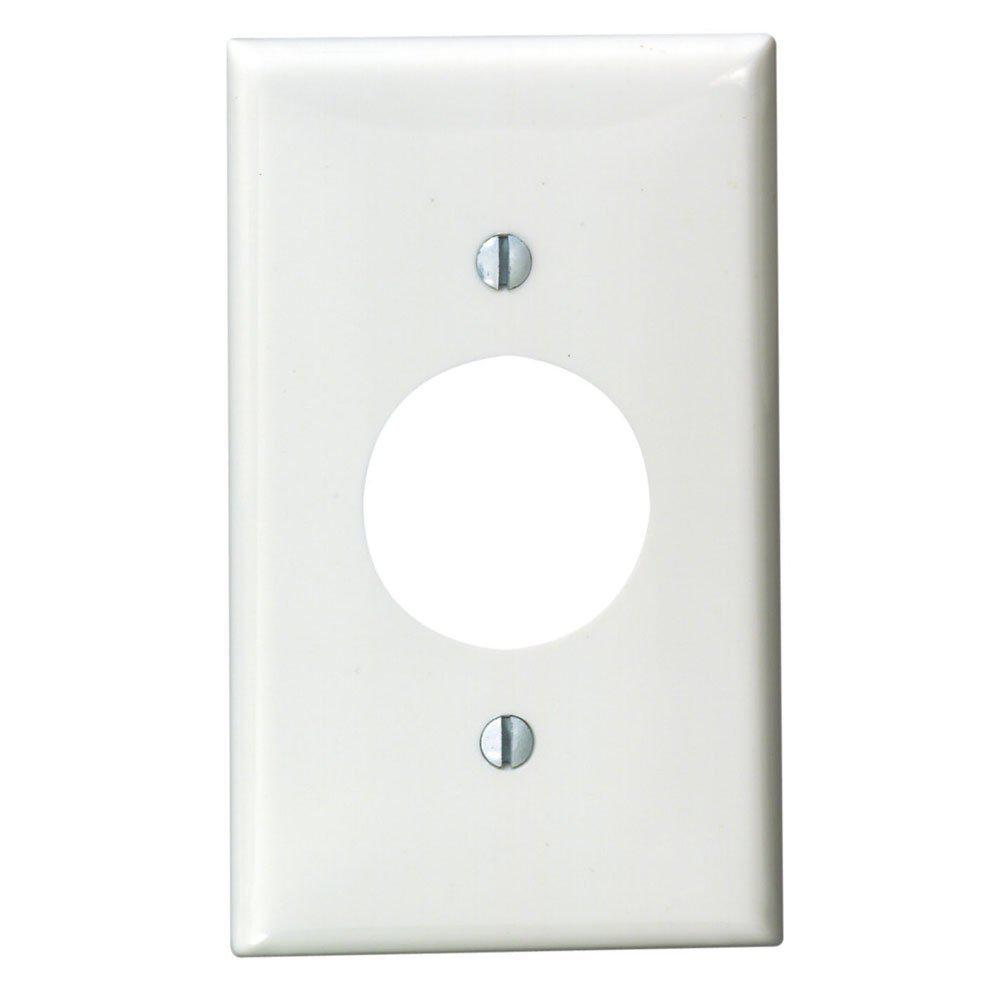 Leviton White 1 Gang Single Outlet Wall Plate 1 Pack 80704 W The Home Depot