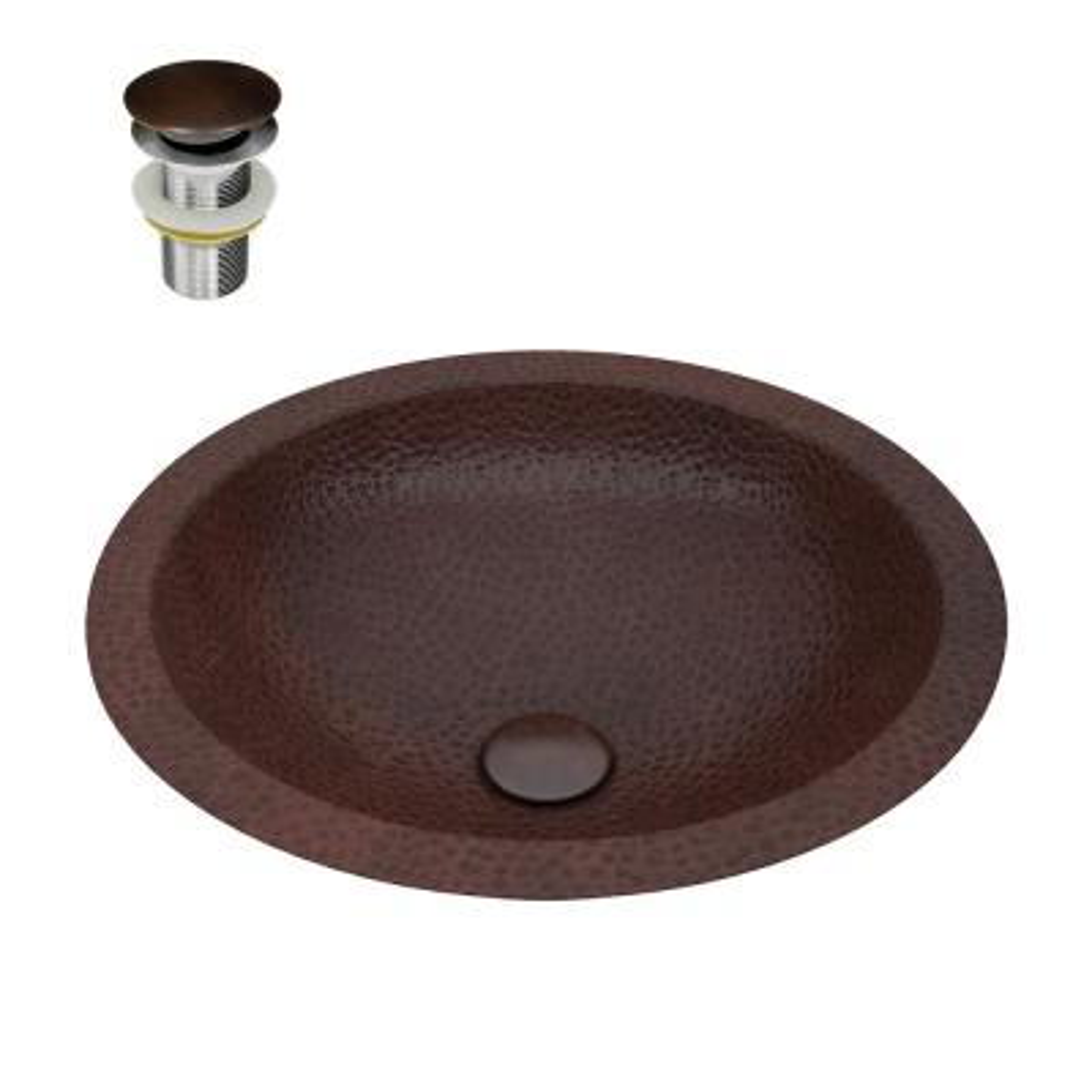 Anzzi Copper Bathroom Sinks Bath The Home Depot