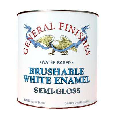 1 gal. Semi Gloss Interior Wood Brushable White Enamel