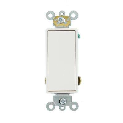 15 Amp Decora Plus Commercial Grade Single Pole Double-Throw Center-Off Maintained Contact Rocker Switch, White