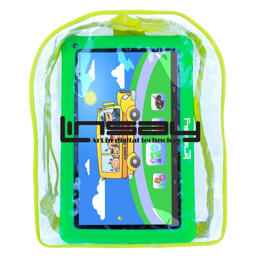 LINSAY 10.1 in. 2GB RAM 16GB Android 9.0 Pie Quad Core Tablet with Green Kids Defender Case and Backpack was $189.99 now $89.99 (53.0% off)