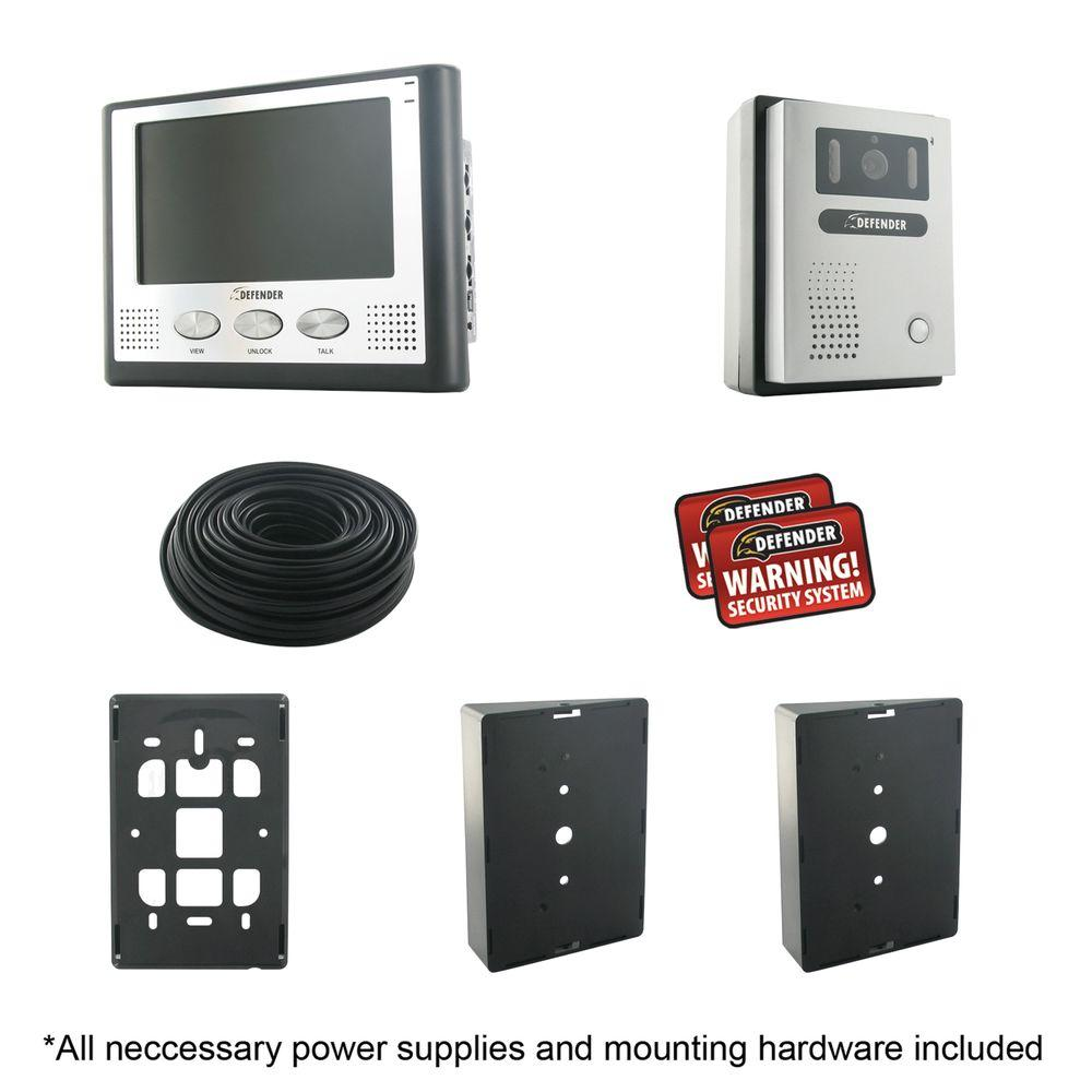 Defender Hands Free Color Video Intercom System with 7 in. Monitor & Night Vision-DISCONTINUED