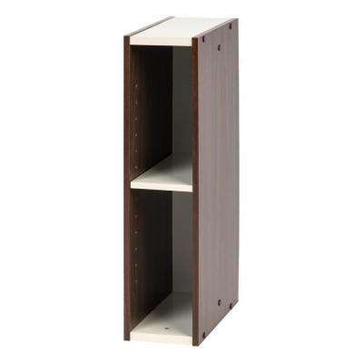 Sema Series Walnut Brown 6 in. x 23 in. Slim Space Saving Shelf