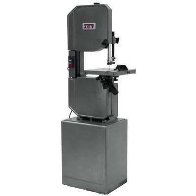 1 HP 14 In. Metalworking and Woodworking Vertical Band Saw with Closed Stand, 8-Speed, 115-Volt, J-8201K