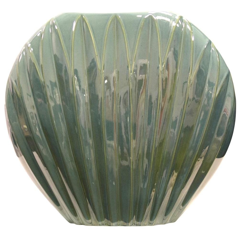 StyleCraft Himalayan Design Rigid Ceramic High Gloss Sage Vase, Green was $117.99 now $60.72 (49.0% off)