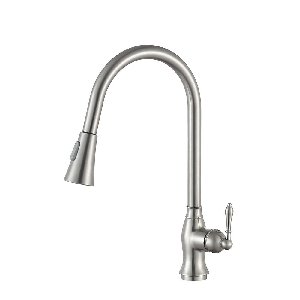 Rodeo Single-Handle Pull-Out Sprayer Kitchen Faucet in Brushed Nickel