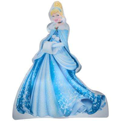 3.5 ft. Disney Photorealistic Cinderella in Winter Outfit Inflatable