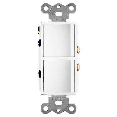 2-Function Rocker Combination Switch in White (120-Volt, 15 AMP(X2))