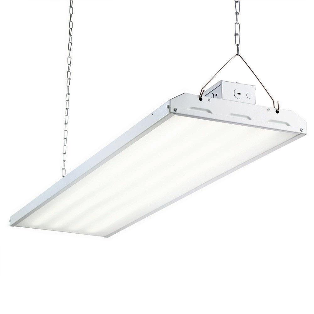 216 Watt 4 Ft White Integrated Led Backlit High Bay Hanging Light With 26000