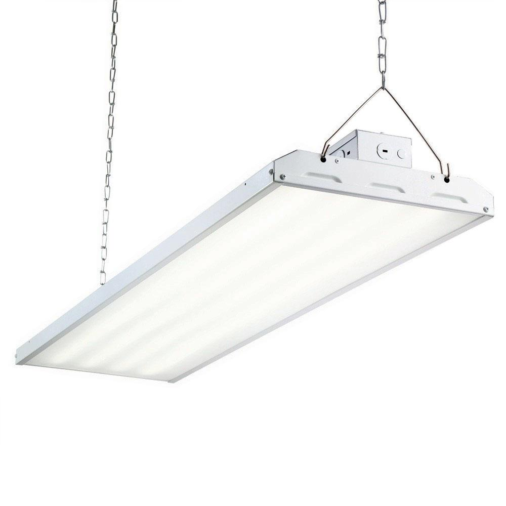 223 Watt 4 Ft White Integrated Led Backlit High Bay Hanging Light