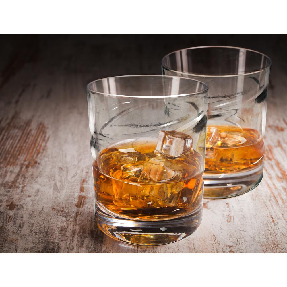 Spinning Whiskey Glasses, Set of 2