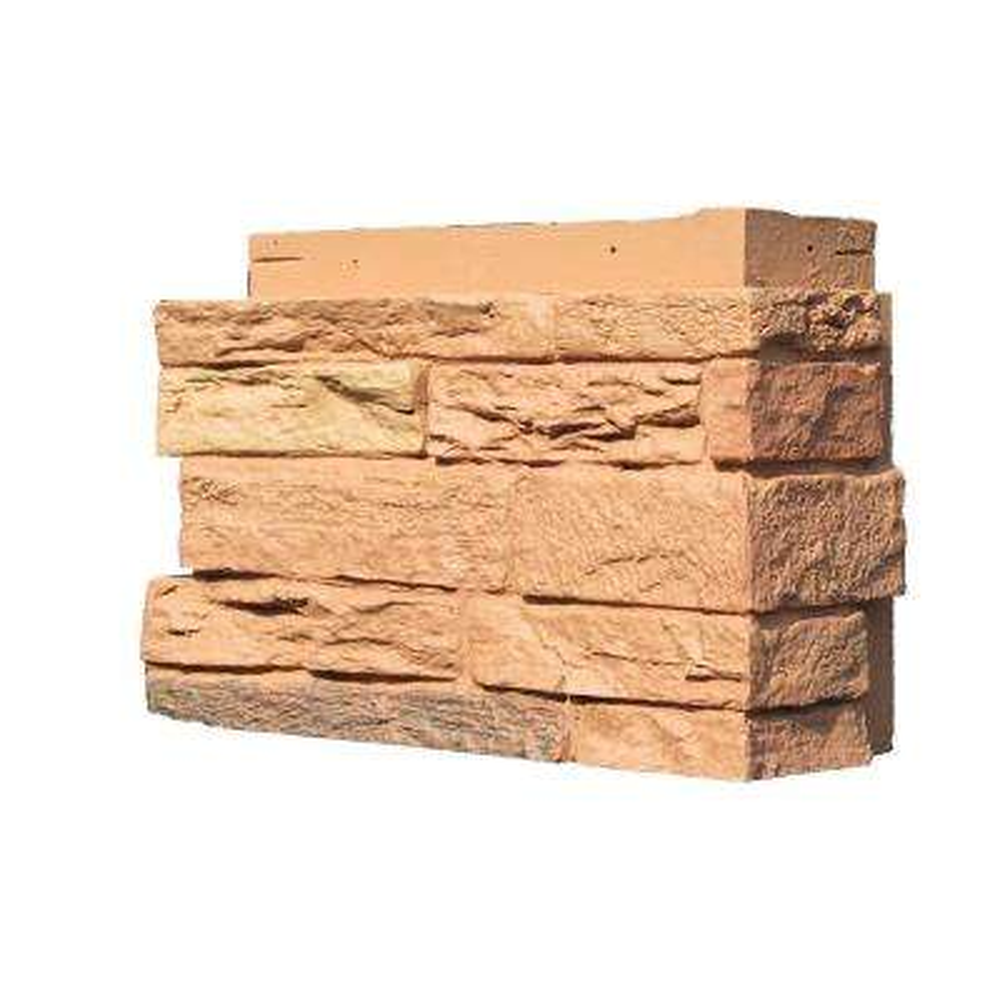 Slatestone 4.5 in. x 12.75 in. Faux Stone Siding Corner in Arizona Red (4-Pack)