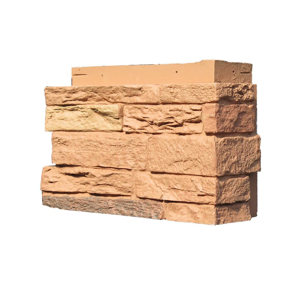 Slatestone Arizona Red 4.5 in. x 12.75 in. Faux Stone Siding