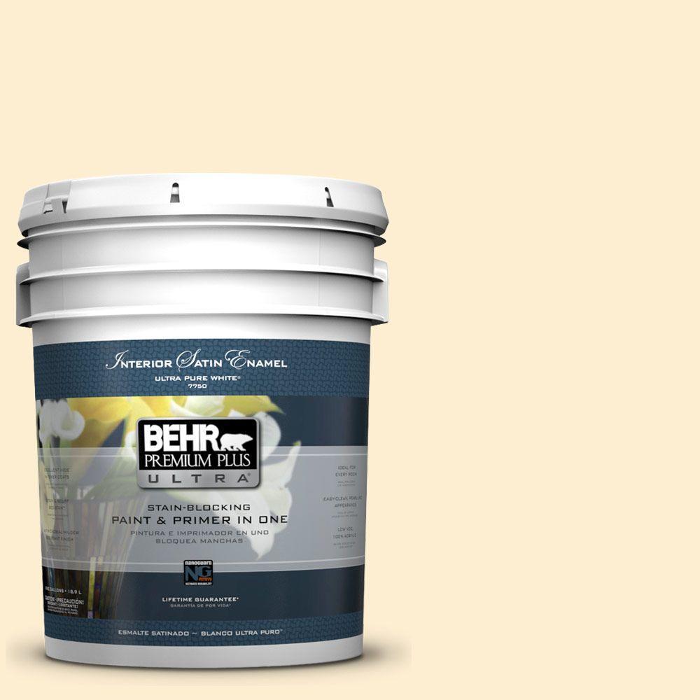 5-gal. #300A-1 Opal Cream Satin Enamel Interior Paint