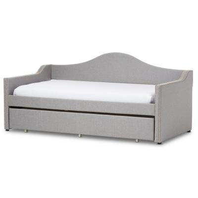 Prime Contemporary Gray Fabric Upholstered Twin Size Daybed