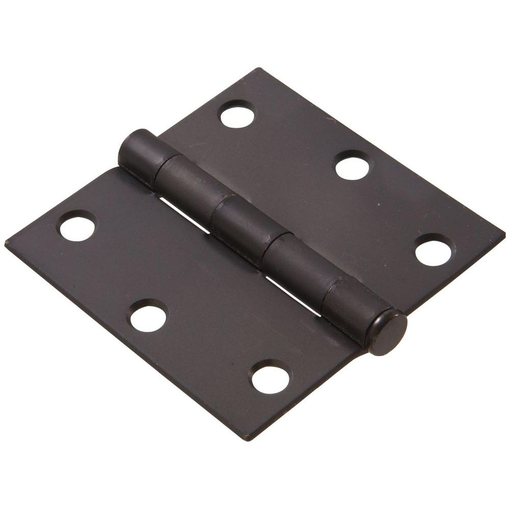 3 in. Oil-Rubbed Bronze Residential Door Hinge with Square Corner Removable