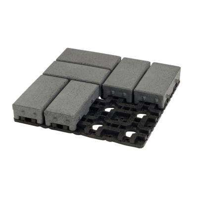 4 in. x 8 in. Waterwheel Composite Permeable Paver Grid System (8 Pavers and 1 Grid)