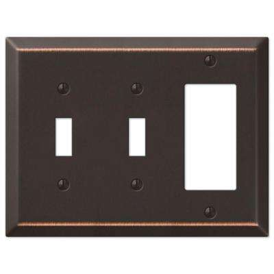 Century 2 Toggle 1 Decorator Wall Plate - Aged Bronze