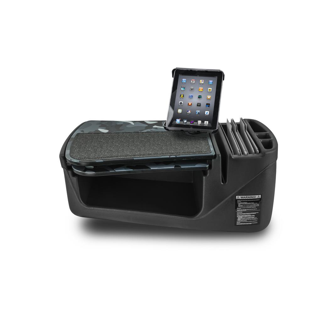 AutoExec GripMaster Car Desk Urban Camouflage with Built-in Power Inverter and Universal iPad//Tablet Mount