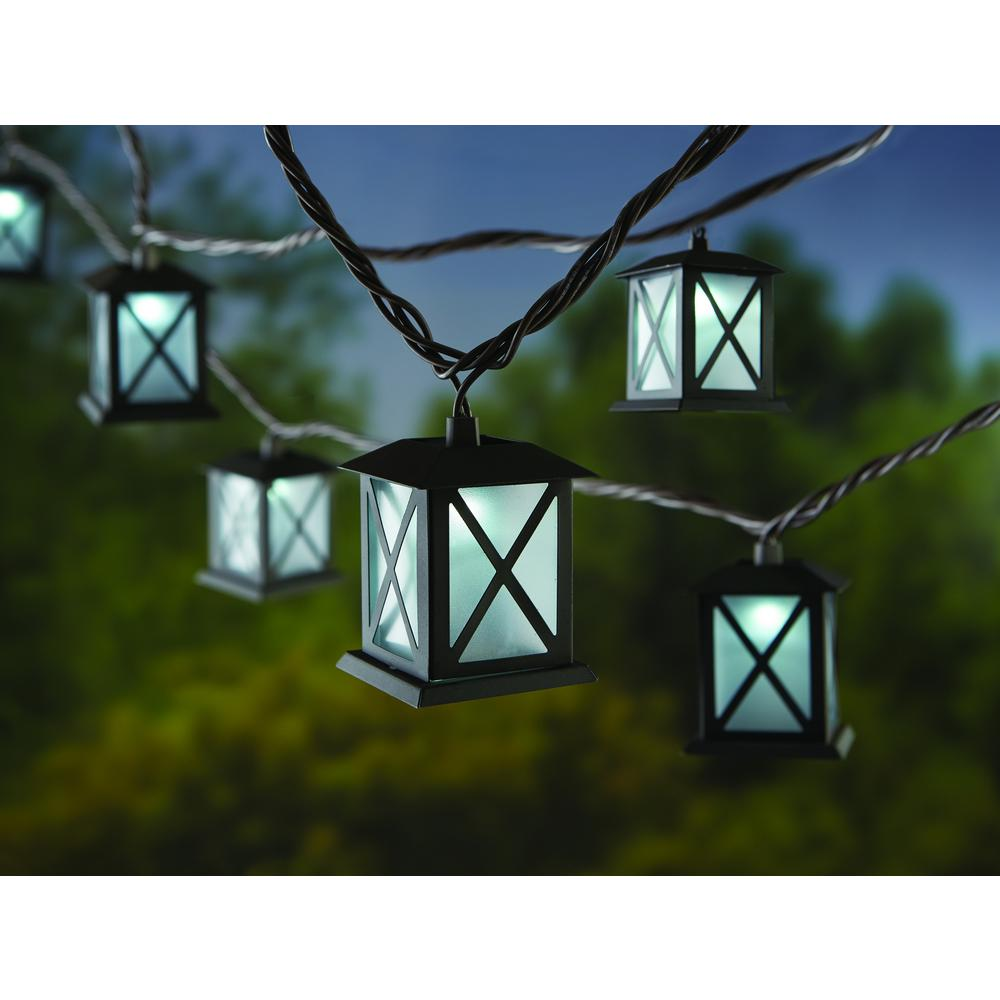 Hampton Bay Metal Lantern Led Indoor Outdoor String Lights