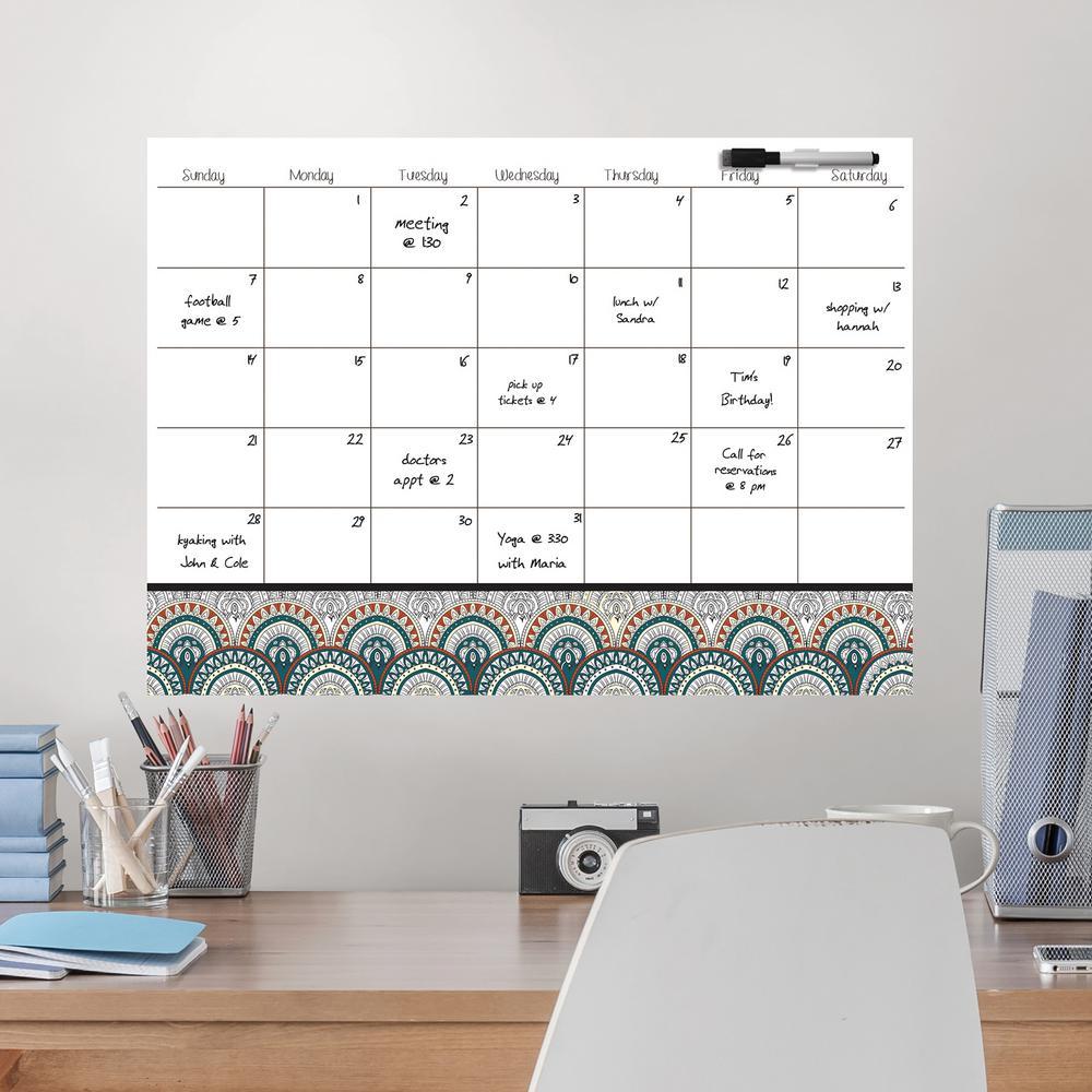 Etonnant WallPOPs White Peacock Coloring Calendar Decal