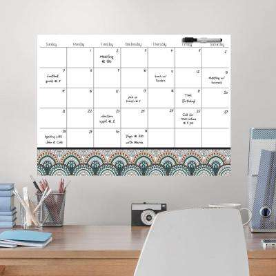 White Peacock Coloring Calendar Decal