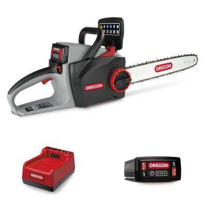 16 in. 40-Volt Electric Cordless Chainsaw with 6.0 Ah Battery and Rapid Charger
