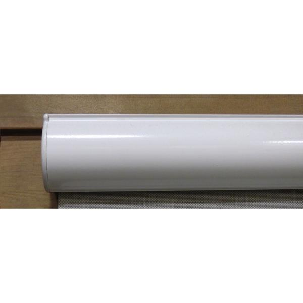 Bali Essentials Coral White Cordless Hand Crank Light Filtering Motorized Vinyl Horizontal Exterior Roll Up Shade 66 In W X 84 In L 276056 The Home Depot