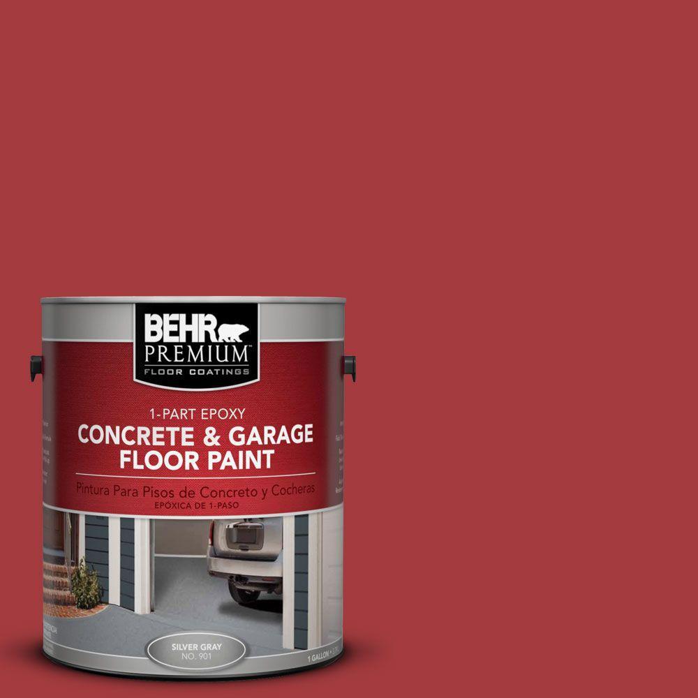 Epoxy Concrete Garage Floor Paint Brick Red Driveway Resists Chemicals