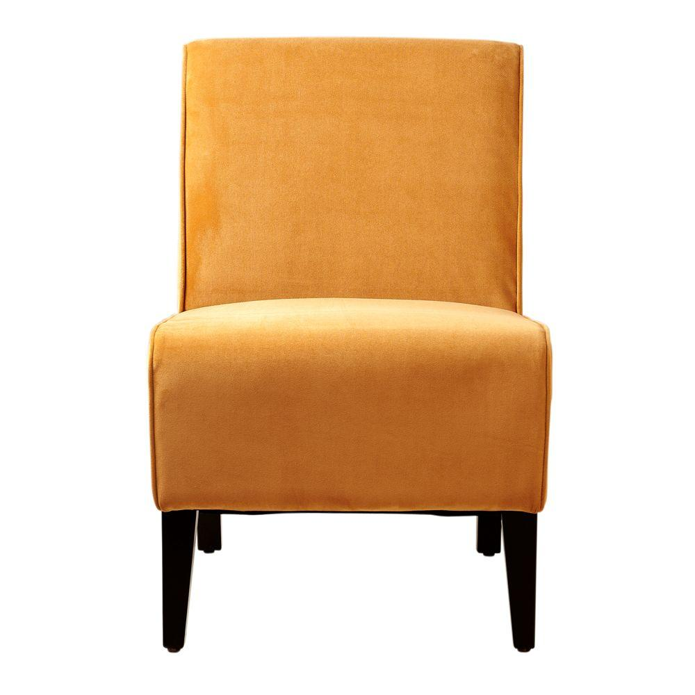 Home Decorators Collection Vincent 22.5 in. W Butternut Slipper Chair