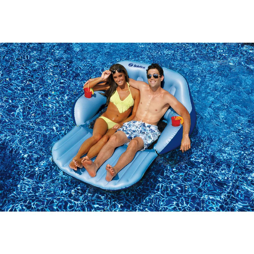 Swimline Convertible Duo Love Seat Chair Swimming Pool Lounge