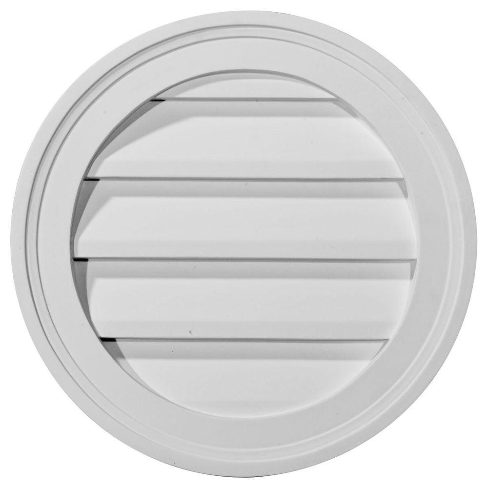 Ekena Millwork 12 In X 12 In Round Primed Polyurethane Paintable Gable Louver Vent Functional Gvro12f The Home Depot