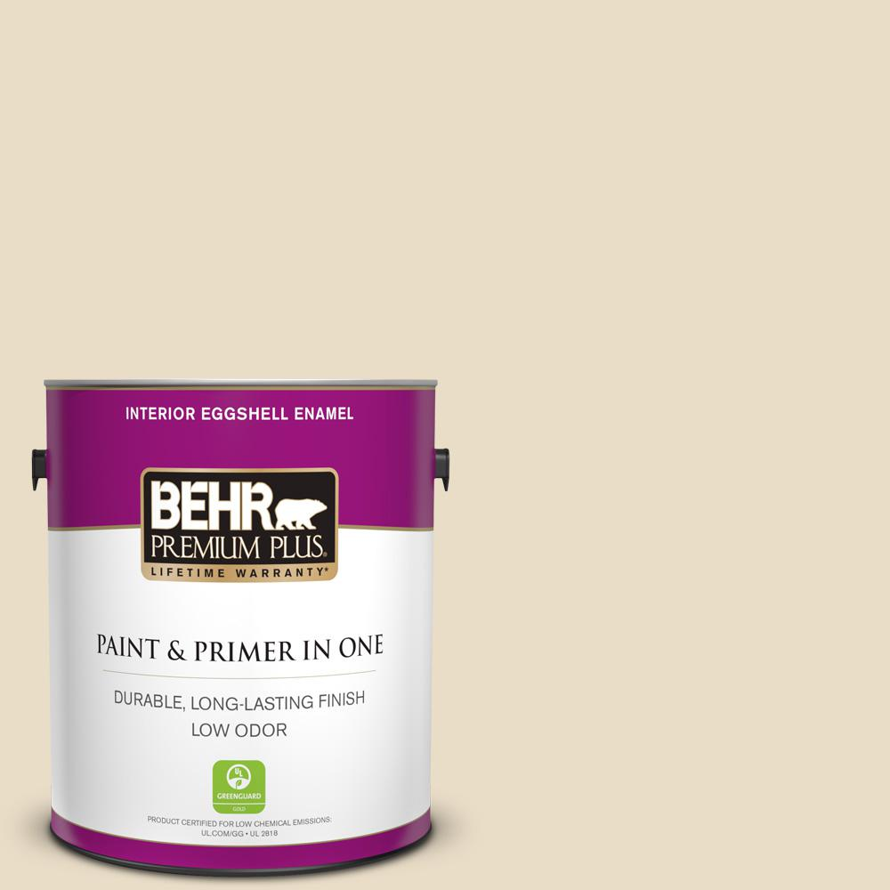 Behr Premium Plus 1 Gal 22 Navajo White Eggshell Enamel Low Odor Interior Paint